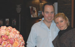 The owners of OnlyRoses: Anian and Sabine Schmitt