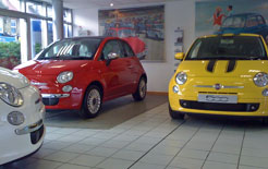 Fiat 500s at Parkside Garage