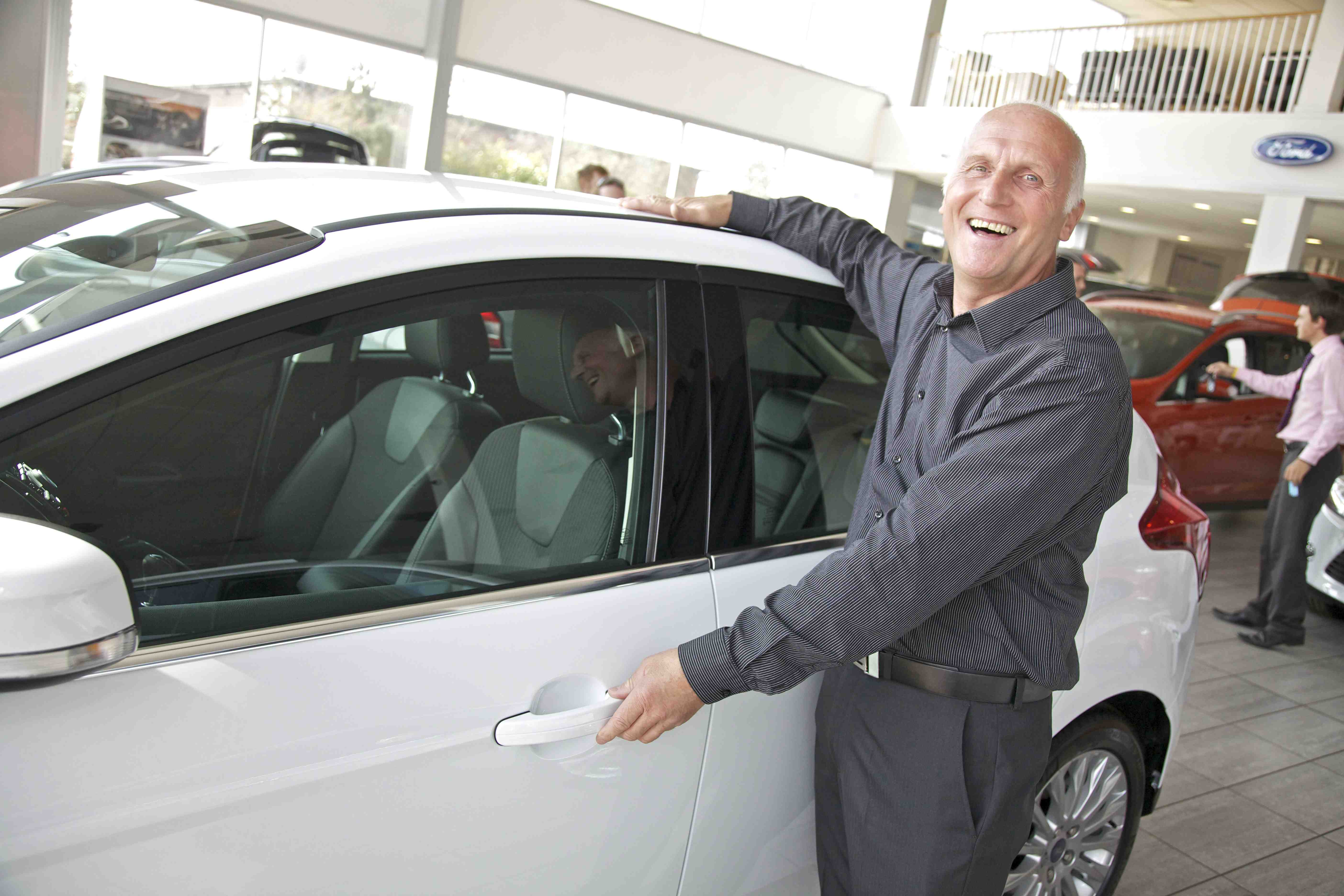 Man with his new Ford Focus