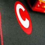 London Congestion Charge sign on the road