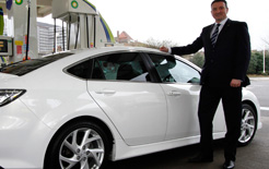 Mazda fleet and remarketing director Peter Allibon with a Mazda6