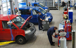 Fixed price servicing available on the Volkswagen van range