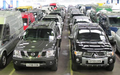 Double cabs line up for sale at BCA Blackbushe