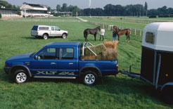 Ford Ranger towing horsebox