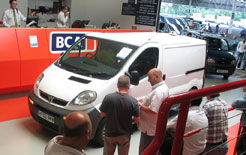 Vauxhall Movano going through the BCA auction hall