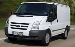 Ford Transit ECOnetic front three quarters