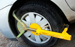 Clamped wheel - the law on wheel clamping on private land is being changed to outlaw its practice