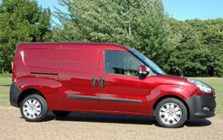 Fiat Doblo Cargo LWB side shot of van
