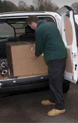 Peugeot Bipper van being unloaded