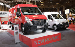 Vauxhall Movano at the CV Operator Show