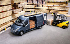 Renault Master being loaded up
