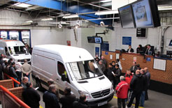 Used vans going through the BCA auction hall