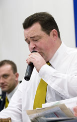 Tim Spencer, group commercial vehicle auctioneer at Manheim Auctions, who says there are plenty of vans for sensible money at auctions