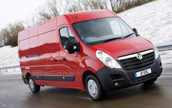 Vauxhall Movano fitted with winter tyres