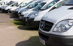A selection of vans ready for auction from CD Auction Group