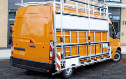 Renault Master Supertrucks with glass carrying rack