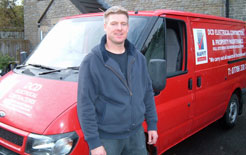 Electrical contractor, Devon Troskie, used DriverPlan to keep mobile in his van while suffering whiplash injuries