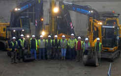 TCB Contracts workers and their machinery. Pic: TCB Contracts