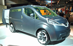 Nissan NV200 concept van at the Hanover Commercial Vehicle Show