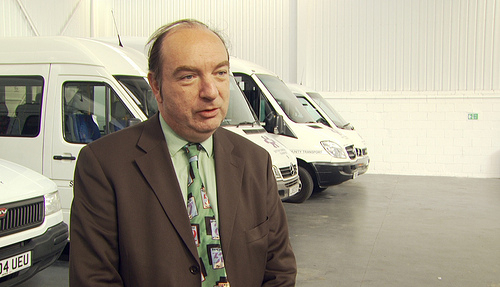 Transport Minister Norman Baker announces higher penalties for utility company road works that overrun