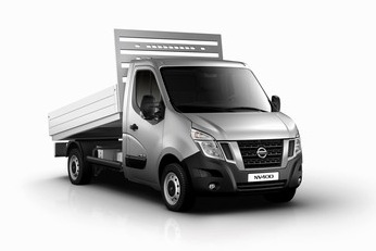Nissan is launching its NV400 chassis cab range, including this tipper, at the CV Show