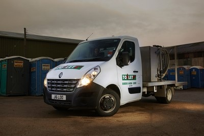 Renault Master chassis cabs have been added to the Toilets+ fleet