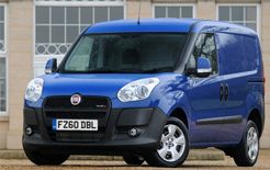 Fiat Doblo Cargo - centre of Fiat Professional free fuel and bacon roll promotion