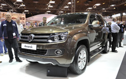 The new VW Amarok double cab pick up was unveiled at the Commercial Vehicle Show at the NEC