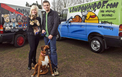 LondonWoof won the £5000 prize for the Northgate Vehicle Branding Awards