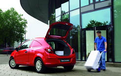 New Vauxhall Corsavan 1.3-litre CDTi 16v ecoFLEX with class-leading CO2 emissions of 95g/km and 78.3mpg