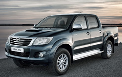 Toyota Hilux has been given a facelift for 2012 MY gets new front styling and revamped interior