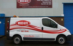 New look for Wood Auto Vans as part of the group's rebranding exercise