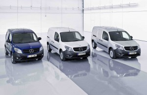 Three different versions of the Mercedes-Benz Citan