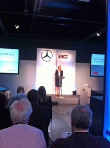 Julie Jenner at the ACFO conference