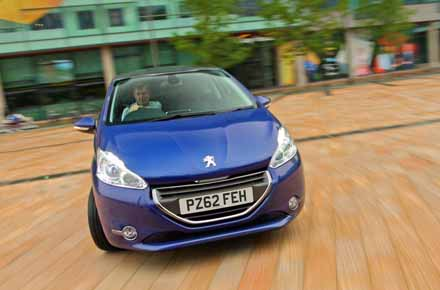 Peugeot 208 on a 62 plate