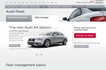 Newlook Audi Fleet Website Business Car Manager - Audi car official website
