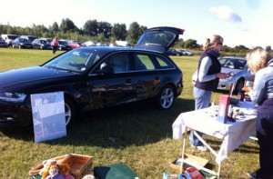 Audi A4 Avant at car boot sale