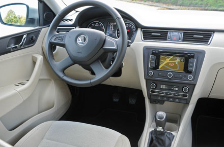 Skoda rapid road test a strong business car case business car manager for Skoda rapid interior and exterior photos