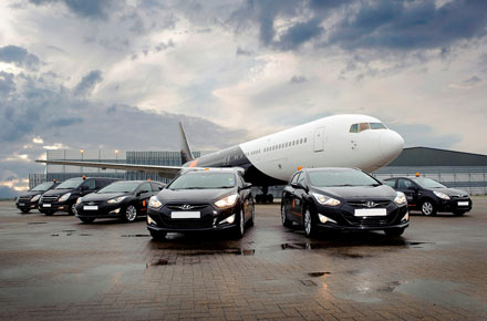The Hyundai fleet supporting Titan Airways