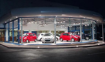 Car showroom pic from Simply Registrations release