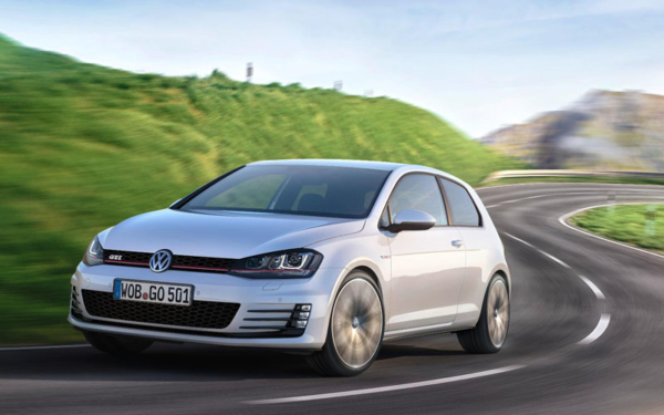 VW Golf GTI action image