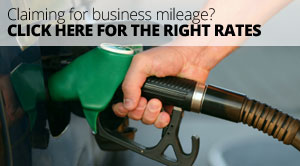 Claiming for business mileage? Click here for the right rates