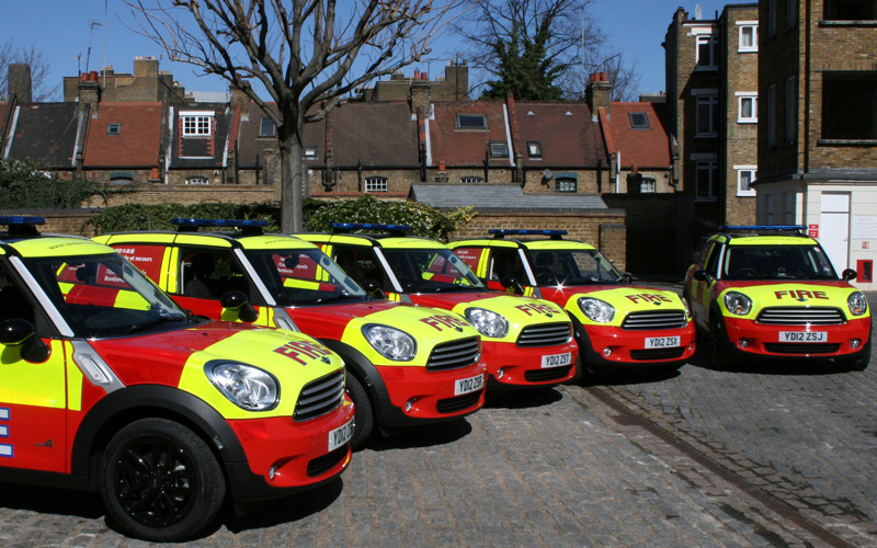 MINI ALL4 Joins The London Fire Brigade Business Car Manager