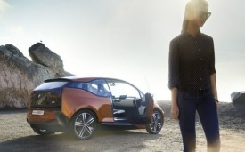 BMW i3 Coupe with person
