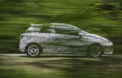 New Opel Corsa testing in disguise
