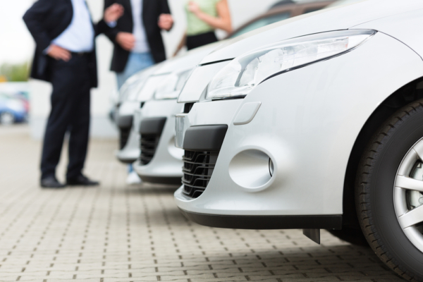 cars, lined, up, for, short, leasing
