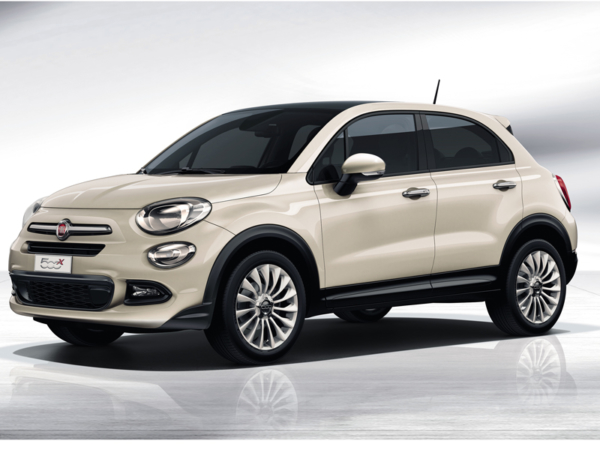 Fiat, 500X, front, parked, white