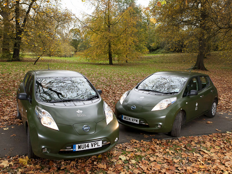 Nissan Leaf Working At The Royal Parks Business Car Manager