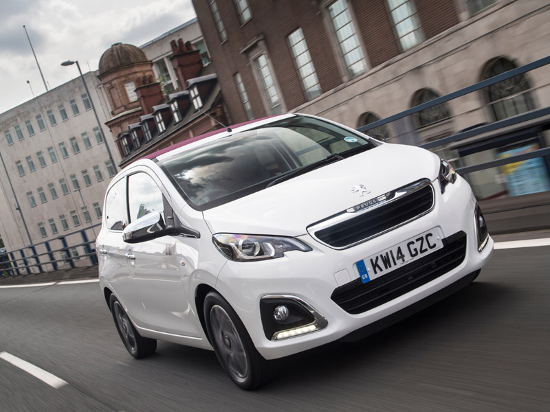 Peugeot, 108, city, car, moving, fast, front