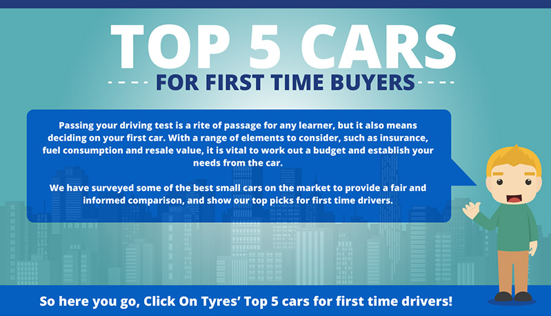 infographic the top five cars for first time drivers. Black Bedroom Furniture Sets. Home Design Ideas